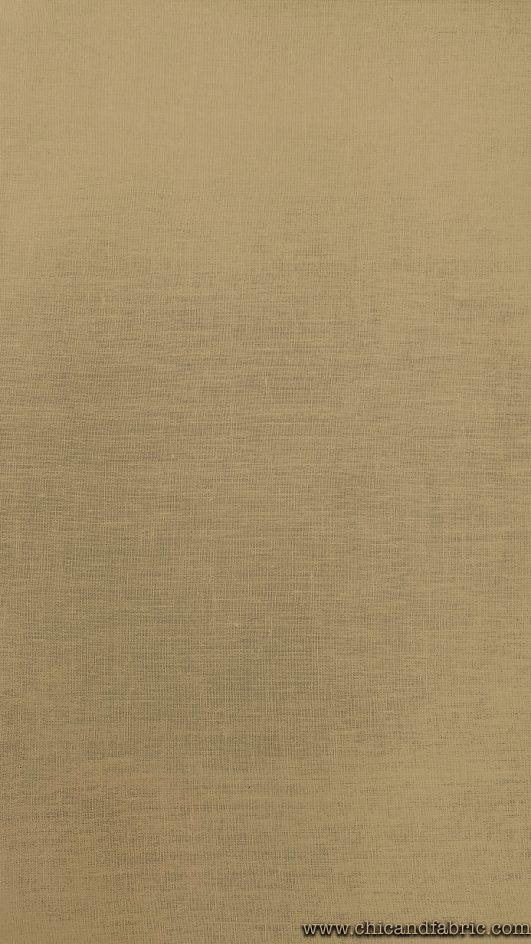 Visillo de lino 100% fino de 2,80m en color ocre translúcido