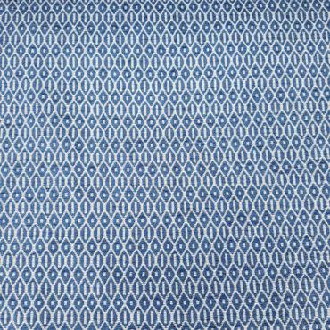 jacquard con estampado geométrico en azul para tapizar sillas, butacas, sofás...
