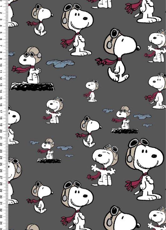 Tela de Snoopy disfrazado de piloto