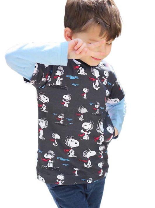 tela de snoopy gris tela de snoopy gris en jersey de punto de camiseta