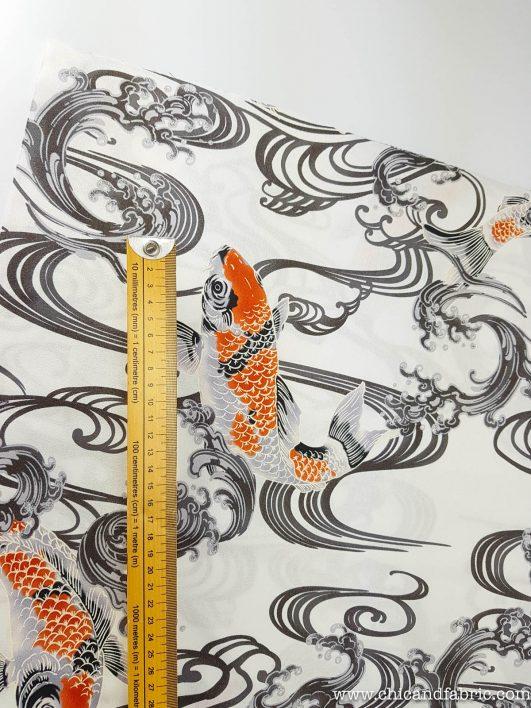 Tissu de carpes koi japonais